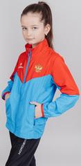 Детская беговая куртка Nordski Jr. Sport Red-Blue 2020