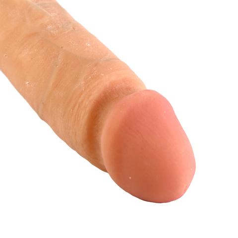 """Вибромассажер реалистик 8 с мошонкой на присоске The Realistic® Cock киберкожа® Vibrating 8"""" - White"""
