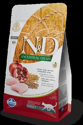Farmina N&D Ancestral Grain Chicken&Pomegranate Adult - Корм для кошек с курицей и гранатом - 5 кг
