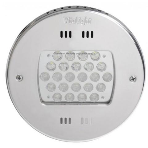 Светильник встраиваемый светодиодный Vitalight Power-LED,RGB, 24x3Вт,24В, накладка AISI-316L, корпус RG-бронза, под бетон, кабель 5 м