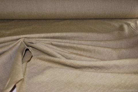 Льняная римская штора Кларин табачный