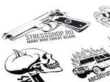 Стикерпак STRESSShop x KARMA x STRESSЦвет: черный вид 2