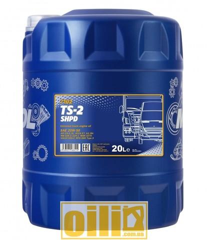 Mannol 7102 TS-2 SHPD 20W-50 20л