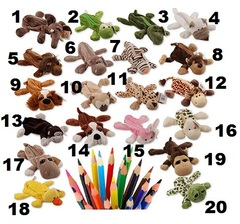 Animal Pencil Pen Case Pluch