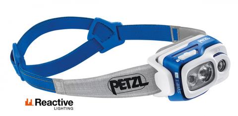 Фонарь светодиодный налобный Petzl Swift RL синий, 900 лм, аккумулятор