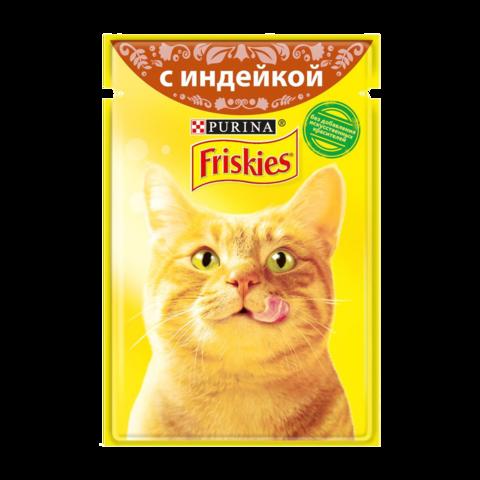 Friskies Консервы для кошек с Индейкой в подливе (Пауч)