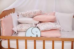 Бортики-защита в кроватку из сатина от комплекта Верона - 2 Фламинго