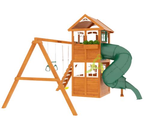 Детская площадка Клубный домик с трубой Luxe