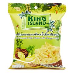 Кокосовые чипсы KING ISLAND со вкусом ананаса 40 гр