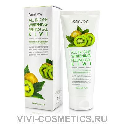 Пилинг-гель с киви | Farmstay SNAIL ALL IN ONE WHITENING PEELING GEL CREAM KIWI (180мл)