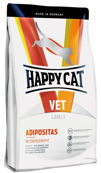 купить Happy Cat VET Diet Adipositas сухой корм для взрослых кошек, диетический рацион для коррекции веса 4 кг