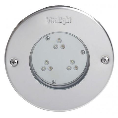 Светильник встраиваемый светодиодный Vitalight Power-LED,белый, 9x3Вт, 24В, накладка AISI-316L, корпус RG-бронза, бетон, кабель 5 м