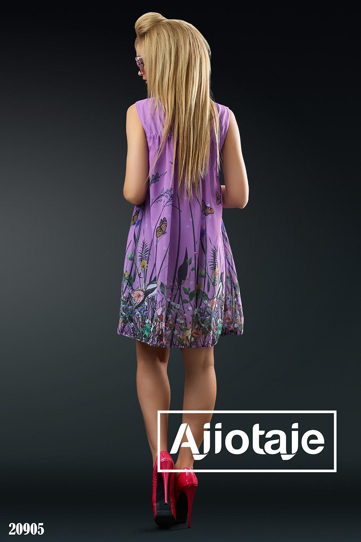 Легкое шифоновое платье свободного кроя