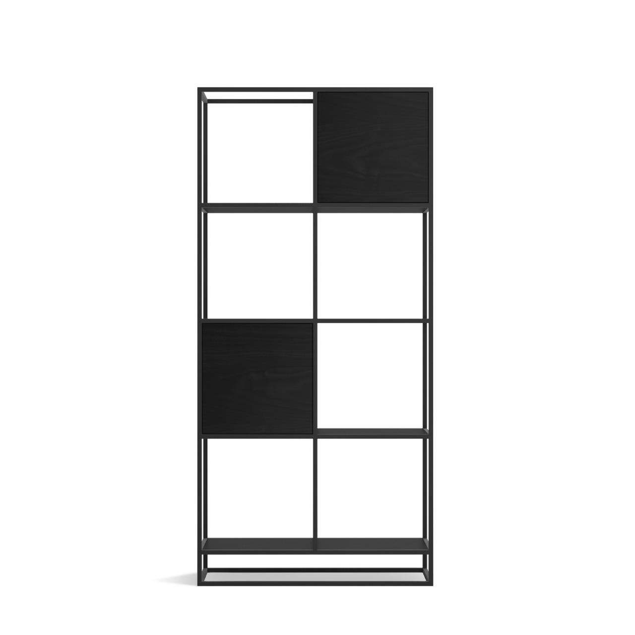 Стеллаж Intelligent design Kvadra 2, черный - вид 3