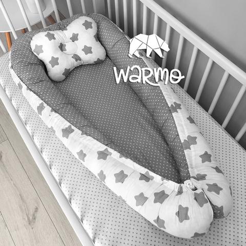 Кокон (гнездышко) для новорожденных Warmo™ ЗВЕЗДОЧКИ