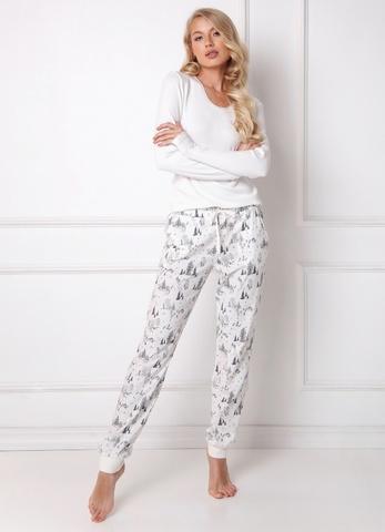 Пижама женская со штанами ARUELLE (WOODS WHITE)
