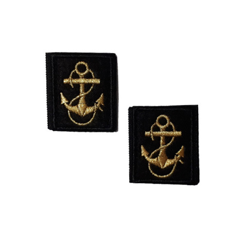 Нашивки вышит. Петличные эмблемы для офиц. состава ВМФ ( якорь) на липучке