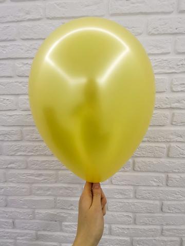№4 Золото Гелиевый шар металл 30см с обработкой