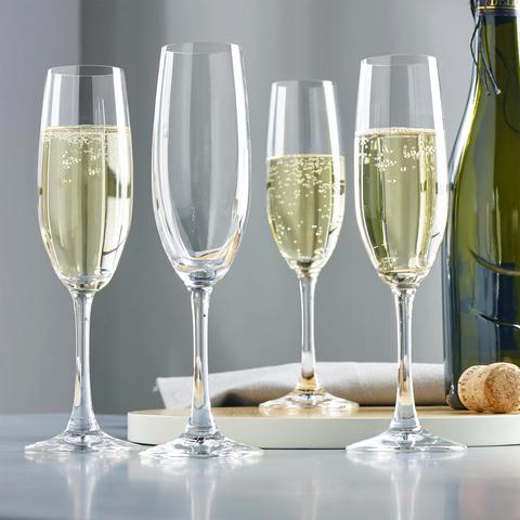 Бокалы для шампанского «Winelovers», 4 шт, 190 мл