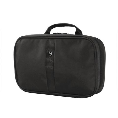 Несессер Victorinox Zip-Around Travel Kit, 3 отделения, черный, 28x8x18 см, 4 л