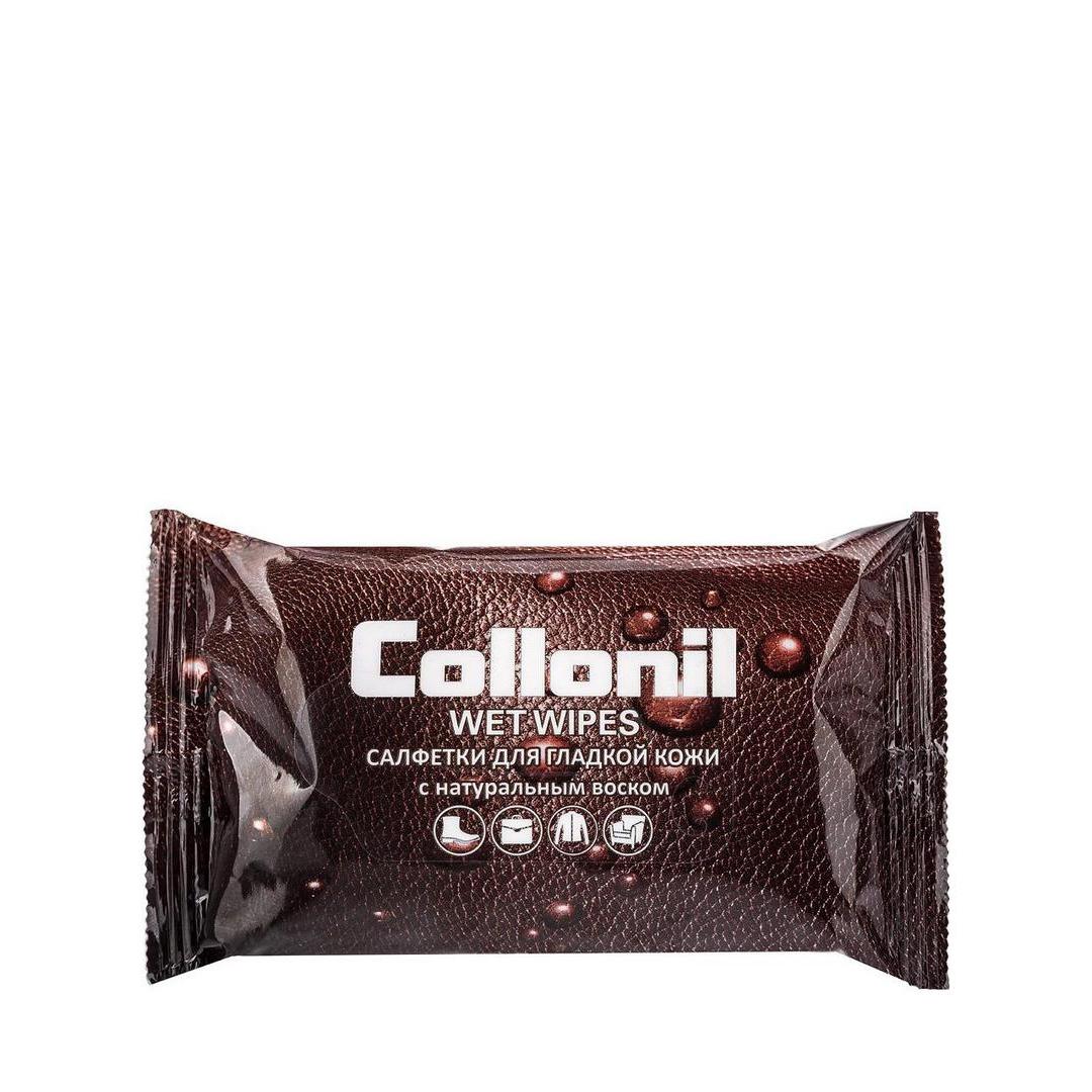 Collonil Салфетки влажные для гладкой кожи с натуральным воском 15 шт.