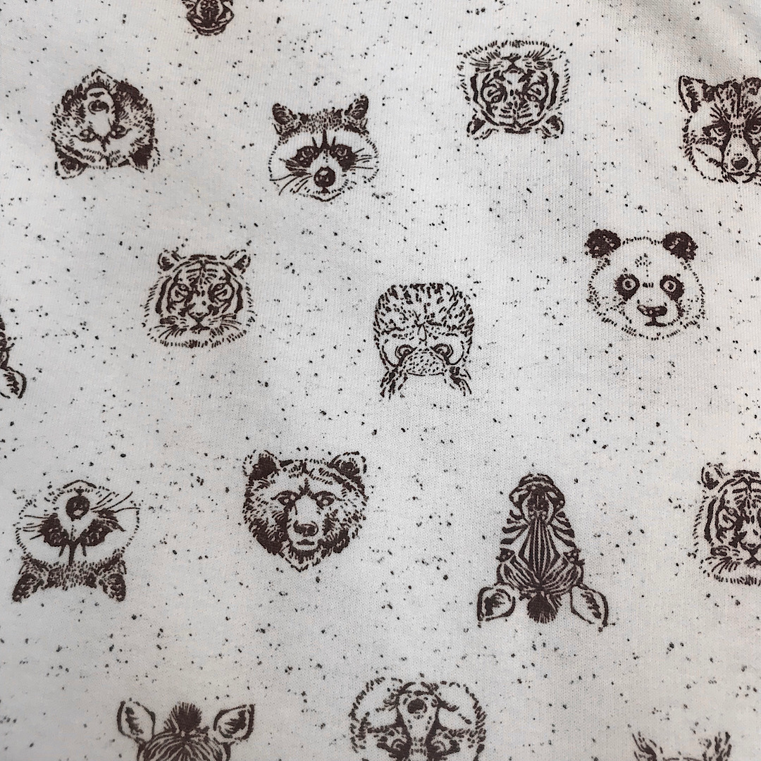 ФЛАНЕЛЬ зоопарк - простыня на резинке 90х200