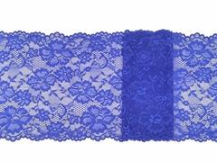 Эластичное кружево, 23 см, синий, (Арт: EK-2153), м