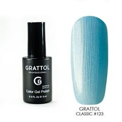 Grattol, Гель-лак 123, Blue Pearl, 9 мл