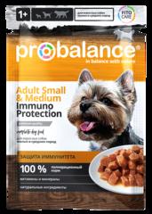 Пауч ProBalance Immuno Protection Small&Medium для взрослых собак малых и средних пород