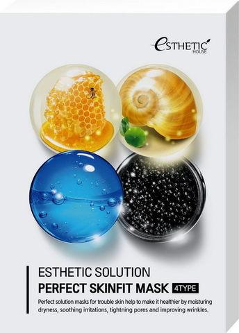 Тканевая маска для лица 4 ВИДА Esthetic Solution Perfect Skinfit Mask 4 Type, 25 мл * 4 шт ESTHETIC HOUSE