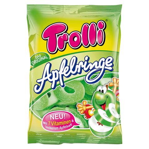 Жевательный мармелад Trolli Apfelringe - яблочные колечки, 200 г