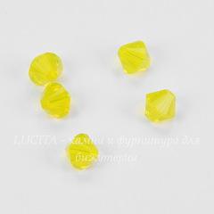 5328 Бусина - биконус Сваровски Yellow Opal 6 мм, 5 штук