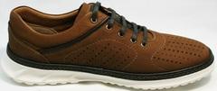 Модные мужские кроссовки для ходьбы по городу Vitto Men Shoes 1830 Brown White