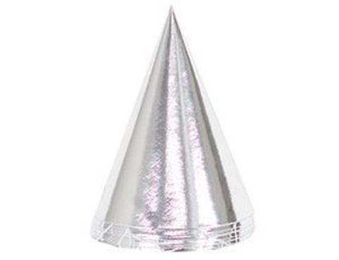 Колпак фольгированный серебряный 6шт/G