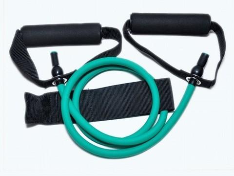 Эспандер латексная трубка с ручками (зеленый) 12LB (5,4 кг). :(WX-22):