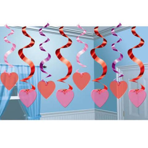 Спираль Сердце 46-60см 15 штук