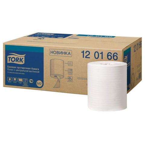 Протирочная бумага в рулонах с центральной вытяжкой Tork 120166 M2 белая (6 рулонов по 275 метров)