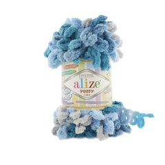 Пряжа Alize Puffy Color цвет 5891