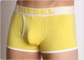 Мужские трусы боксеры желтые Diesel Fresh and Bright Divine Boxer Yellow