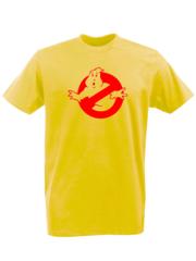 Футболка с принтом Охотники за привидениями (Ghostbusters) желтая 002
