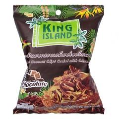 Кокосовые чипсы KING ISLAND с шоколадом 40 гр