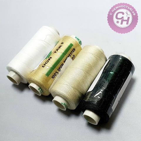 Нитки швейные для шитья  Dor Tak, толщина нити 40/2, 400 ярд,