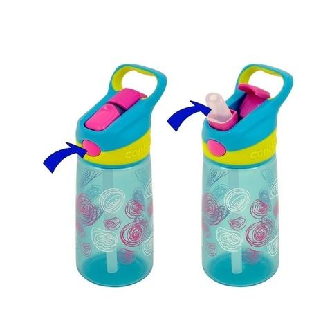Бутылочка детская Contigo Striker (0,42 литра) цветы, розовая