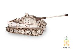 Немецкий Танк Лев (EWA) - Деревянный конструктор Eco Wood Art, 3D пазл, сборная модель