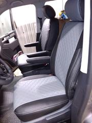 Чехлы на Volkswagen T6 фургон Multivan / Caravelle / Transporter 2015–2021 г.в.