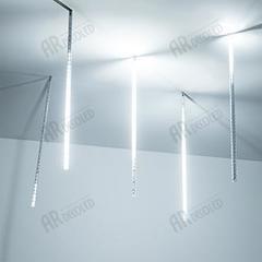 Светодиодная гирлянда ARD-ICEFALL-CLASSIC-D12-500-5PCS-CLEAR-72LED-LIVE WHITE (230V, 6W)