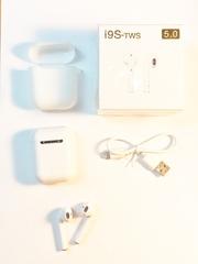Наушники беспроводные i9S TWS с чехлом 5.0 Белые