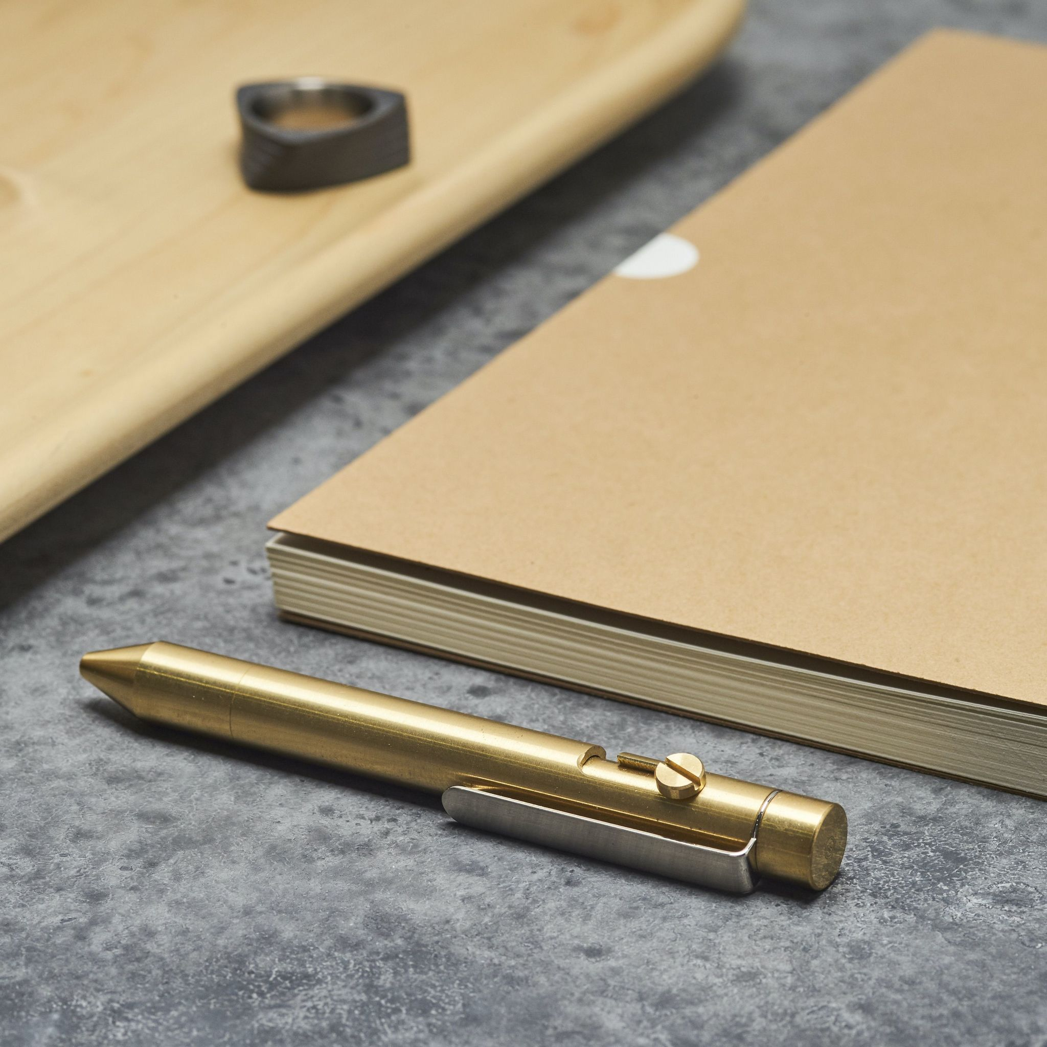 Inventery Bolt Action Pen Brass