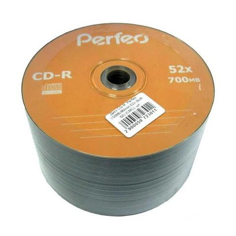 Диски Perfeo CD-R 700 MB 52x, Bulk/50