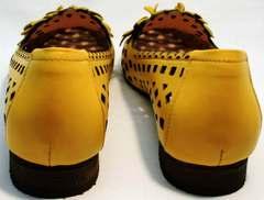Женские летние туфли на низком каблуке Phany 103-28 Yellow.